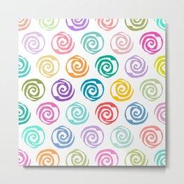 Circles Abstract Seamless Pattern Metal Print