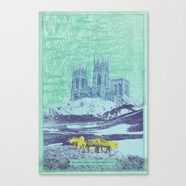 The Lands Where the Reindeer Graze Canvas Print