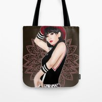 2ne1 Tote Bags featuring Crush  by Samera Tseng