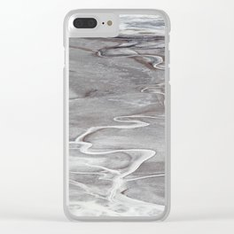 Death Valley Badwater Basin Clear iPhone Case