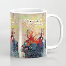 hobbs and shaw abstract art Coffee Mug