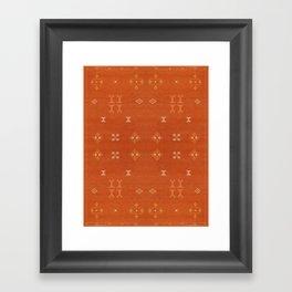 N248 - Lovely Brown Camel Berber Oriental Bohemian Moroccan Fabric Style Framed Art Print