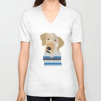 great dane V-neck T-shirts featuring great dane by bri.buckley
