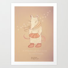 Christmas creatures- The Little Mouse Art Print