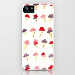 Pink, Purple, and Magenta Ice Cream Cones iPhone Case