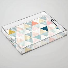 Modern Geometric Acrylic Tray