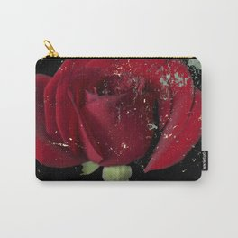 Grunge red rose Carry-All Pouch