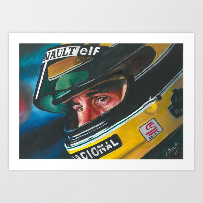 Ayrton Senna Art Print