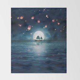 Travel through the Lights Throw Blanket