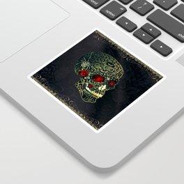 Jeweled Spider Skull Sticker