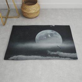 moon-lit ocean Rug