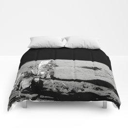 Apollo 14 - Black & White Moon Work Comforters