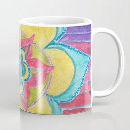 Joy - flower mandala with rainbow Coffee Mug
