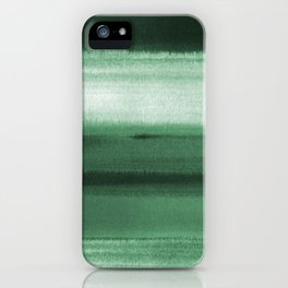Green Watercolor iPhone Case