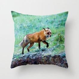 Yukon Wildlife  - Red Fox Throw Pillow