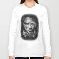 cara Long Sleeve T-shirts featuring Cara Delevingne by Creadoorm