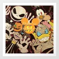 kingdom hearts Art Prints featuring Halloween Kingdom Hearts by kitsune23star
