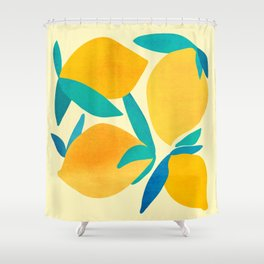 Mangoes - Tropical Fruit Illustration Shower Curtain