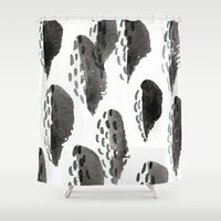 shells Shower Curtains featuring Shells by Tiffany Wong Art