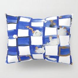 Blue and White Checks Pillow Sham