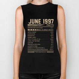 june 1997 facts birthday t-shirts Biker Tank