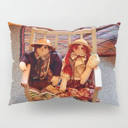 Vintage Dolls in a Chair Pillow Sham