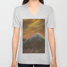 Sunset Mountains Unisex V-Neck