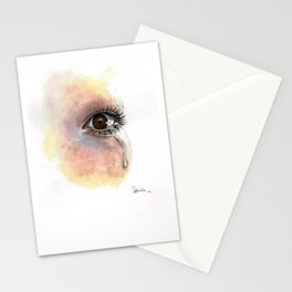 Watercolour Eye Painting  Stationery Cards
