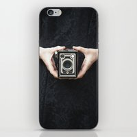 vintage camera iPhone & iPod Skins featuring Vintage Camera by Maria Heyens