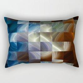 Metal Squares Rectangular Pillow