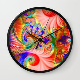 Fractal flower Wall Clock