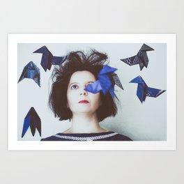 Pájaros en la cabeza Art Print