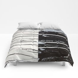Black & White Close Up Comforters