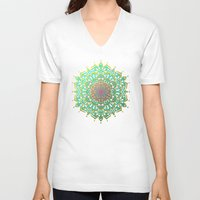 boho V-neck T-shirts featuring Boho Medallions by Lisa Argyropoulos