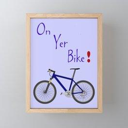 On Yer Bike Framed Mini Art Print