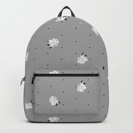 Gardenia pattern grey Backpack
