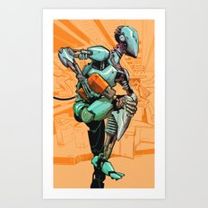 Machine Runner Art Print