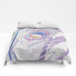 Pastel Peacock Comforters