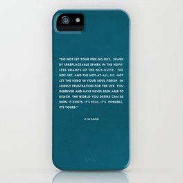 Do not let your fire go out iPhone Case