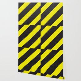Black and yellow diagonal lines Big Wallpaper