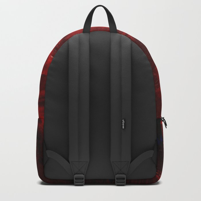 Red Abstract Paint Backpack