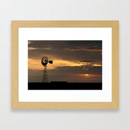 African Summer Sunset 1 Framed Art Print