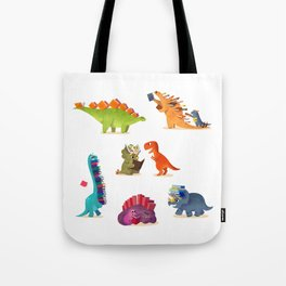 BOOK DINOSAURS Tote Bag