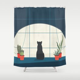 Insomnia Shower Curtain