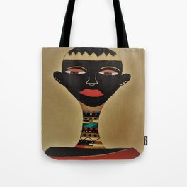 Ebony and Ivory Crown Tote Bag