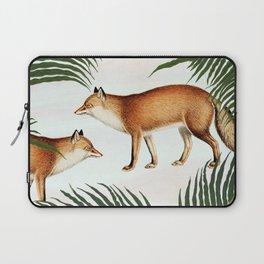 Red Fox Pair #society6 #buyart #decor Laptop Sleeve