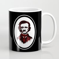poe Mugs featuring Poe by Brit Austin Illustration