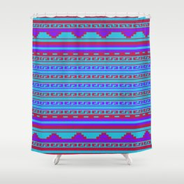Mexican Aztec Ethnic Pattern Shower Curtain