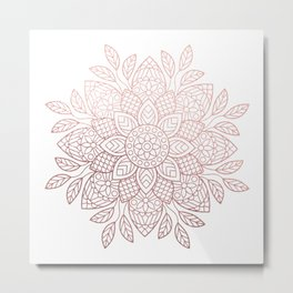 Rose Gold Dream Metal Print