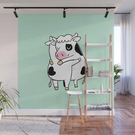 Cow Hugs Wall Mural